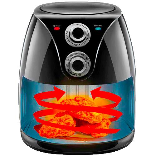 Fritadeira de ar quente, sem óleo